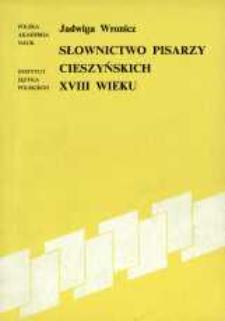 Słownictwo pisarzy cieszyńskich XVIII wieku