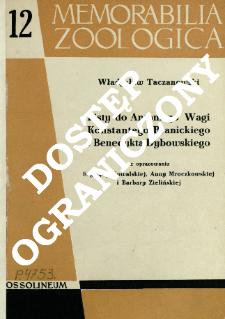 Listy do Antoniego Wagi Konstantego Branickiego i Benedykta Dybowskiego