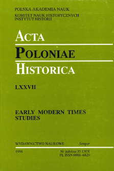 Acta Poloniae Historica. T. 77 (1998), Reviews