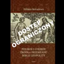 Polskie i czeskie źródła przekładu Biblii Leopolity