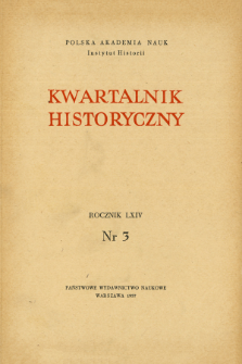 Kwartalnik Historyczny R. 64 nr 3 (1957), Title pages, Contents