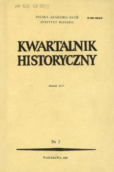 Kwartalnik Historyczny R. 95 nr 2 (1988), Strony tytułowe, Spis treści