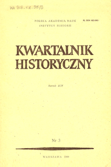 Kwartalnik Historyczny R. 95 nr 3 (1988), Title pages, Contents
