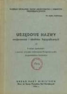 Urzędowe nazwy miejscowości i obiektów fizjograficznych. Nr 27, Powiat opatowski i powiat miejski Ostrowiec Świętokrzyski, wojewóztwo kieleckie