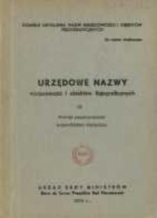 Urzędowe nazwy miejscowości i obiektów fizjograficznych. Nr 32, Powiat sandomierski, województwo kieleckie