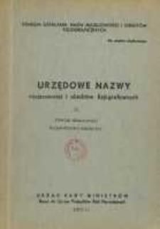 Urzędowe nazwy miejscowości i obiektów fizjograficznych. Nr 33, Powiat staszowski, województwo kieleckie