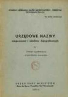 Urzędowe nazwy miejscowości i obiektów fizjograficznych. Nr 34, Powiat szydłowiecki, województwo kieleckie