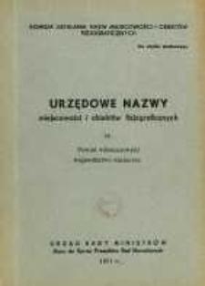 Urzędowe nazwy miejscowości i obiektów fizjograficznych. Nr 35, Powiat włoszczowski, województwo kieleckie
