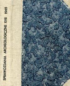 Sprawozdanie z badań archeologicznych w Witowie, pow. Kazimierza Wielka, w 1963 roku