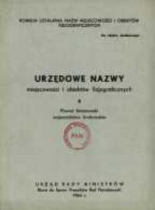 Urzędowe nazwy miejscowości i obiektów fizjograficznych. Nr 6; Powiat limanowski województwo krakowskie