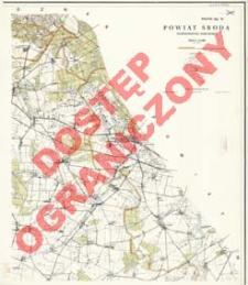 Powiat Środa : województwo poznańskie : skala 1:25 000