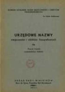 Urzędowe nazwy miejscowości i obiektów fizjograficznych. Nr 44, Powiat łowicki, województwo łódzkie