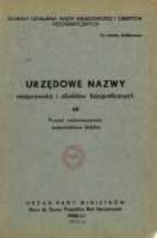 Urzędowe nazwy miejscowości i obiektów fizjograficznych. Nr 48; Powiat radomszczański, województwo łódzkie