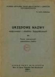 Urzędowe nazwy miejscowości i obiektów fizjograficznych. Nr 53; Powiat wieruszowski, województwo łódzkie