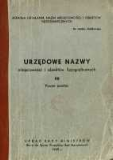 Urzędowe nazwy miejscowości i obiektów fizjograficznych. Nr 58; Powiat jasielski, województwo rzeszowskie