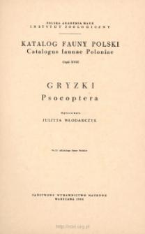 Gryzki = Psocoptera