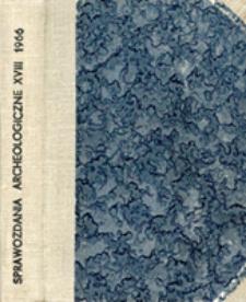 Sprawozdanie z prac terenowych prowadzonych w Radomiu w latach 1959-1964