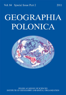 Geographia Polonica Vol. 84 Special Issue Part 2 (2011), Spis treści