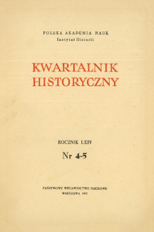 Kwartalnik Historyczny R. 64 nr 4-5 (1957), Z zagadnień współpracy międzynarodowej