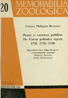 Prace o czerwcu polskim = De Cocco polonico opera : 1731 - 1733 - 1750