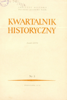 Kwartalnik Historyczny R. 77 nr 2 (1970), Kronika