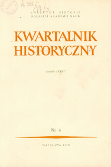 Kwartalnik Historyczny R. 77 nr 4 (1970), Listy do redakcji