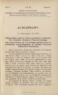 Clausiliidae połudn.-amerykańskie w zbiorach Pol. Państw. Muzeum Przyrodniczego