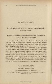 Uzupełnienia i przyczynki do systematyki Clausiliidów