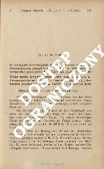 O nowych aberacjach motyli Satyrus briseis L., Coenonympha pamphilus L., Lycaena bellargus L., Ortholitha plumbaria F. i Larentia unidentaria Hw.