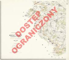 Powiat Węgrów : województwo warszawskie : skala 1:25 000