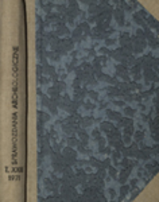Sprawozdania Archeologiczne T. 23 (1971), Omówienia i recenzje