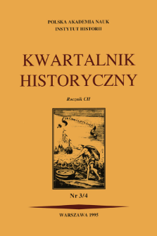 Kwartalnik Historyczny. R. 102 nr 3/4 (1995), Title pages, Contents