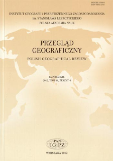 Analiza międzynarodowych czasopism geograficznych ze szczególnym uwzględnieniem geografii społeczno-ekonomicznej = Analysis of international geographical journals with particular emphasis on socio-economic geography