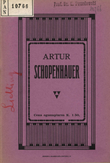 Artur Schopenhauer : szkic literacki