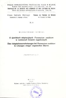 Prace Towarzystwa Przyjaciół Nauk w Wilnie. Travaux de la Société des Sciences et de Lettres de Wilno. Classe des sciences mathématiques et naturelles Wydział Nauk Matematycznych i Przyrodniczych. =