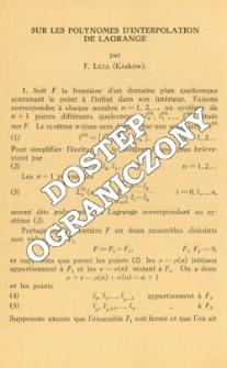 Sur les polynomes d'interpolation de Lagrange