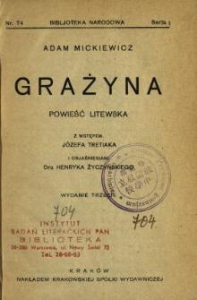 Grażyna : powieść litewska