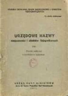 Urzędowe nazwy miejscowości i obiektów fizjograficznych. Nr 104; Powiat bełżycki województwo lubelskie