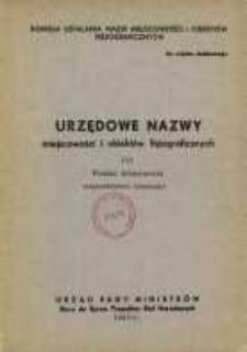 Urzędowe nazwy miejscowości i obiektów fizjograficznych. Nr113; Powiat lubartowski województwo lubelskie