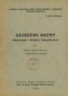 Urzędowe nazwy miejscowości i obiektów fizjograficznych. Nr 116; Powiat opolsko-lubelski, województwo lubelskie