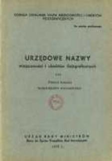 Urzędowe nazwy miejscowości i obiektów fizjograficznych. Nr128; Powiat łosicki, województwo warszawskie