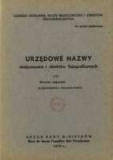 Urzędowe nazwy miejscowości i obiektów fizjograficznych. Nr131; Powiat mławski województwo warszawskie