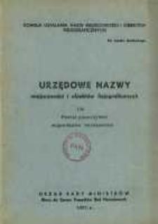 Urzędowe nazwy miejscowości i obiektów fizjograficznych. Nr136; Powiat piaseczyński województwo warszawskie
