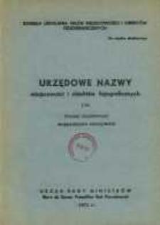 Urzędowe nazwy miejscowości i obiektów fizjograficznych. Nr170; Powiat działdowski województwo olsztyńskie