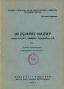 Urzędowe nazwy miejscowości i obiektów fizjograficznych. Nr 171; Powiat nowomiejski województwo olsztyńskie