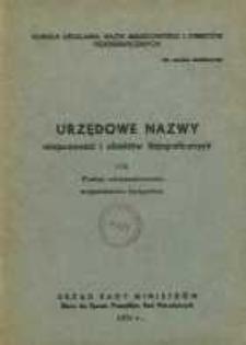 Urzędowe nazwy miejscowości i obiektów fizjograficznych. Nr172; Powiat aleksanrowski województwo bydgoskie