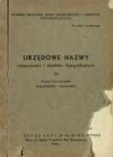 Urzędowe nazwy miejscowości i obiektów fizjograficznych. Nr 73; Powiat tarnobrzeski województwo rzeszowskie