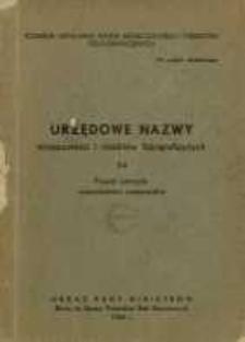 Urzędowe nazwy miejscowości i obiektów fizjograficznych. Nr 74; Powiat ustrzycki województwo rzeszowskie