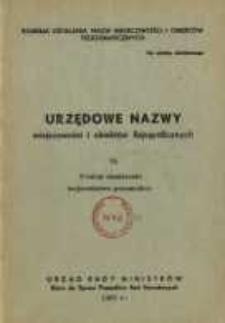 Urzędowe nazwy miejscowości i obiektów fizjograficznych. Nr 75; Powiat chodziski województwo poznańskie