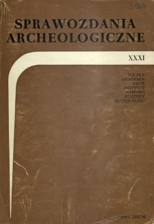 Sprawozdania Archeologiczne T. 31 (1979), Sesje i konferencje